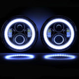 "7"" Halo LED CREE Headlights (Plug & Play) For Jeep Wrangler YJ TJ JK (76-Current)"