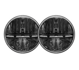 "7"" LED CREE Headlights (Plug & Play) For Jeep Wrangler CJ TJ JK (1997-Current) - JWM 4x4 Jeep Wrangler Products"