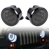 Smoked Front LED Turn Signal Lights For Jeep Wrangler JK (2007-2017)
