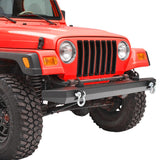 Rock Crawler Front Bumper with D-Rings For Jeep Wrangler YJ TJ (1987-2006) - JWM 4x4 Jeep Wrangler Products