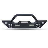 Rock Crawler Front Bumper with LED Lights & Winch Plate For Jeep Wrangler JK (2007-2017) - JWM 4x4 Jeep Wrangler Products
