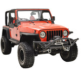 Rock Crawler Tubular Front Bumper with D-Rings For Jeep Wrangler YJ TJ (1987-2006) - JWM 4x4 Jeep Wrangler Products