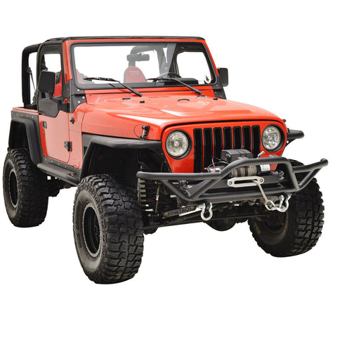 Rock Crawler Tubular Front Bumper with D-Rings For Jeep Wrangler YJ TJ (1987-2006)