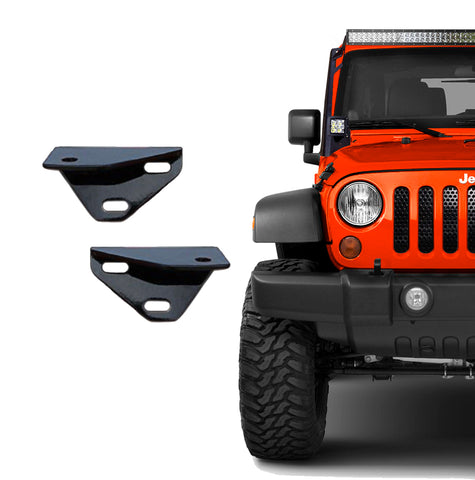Windshield Brackets For Jeep Wrangler JK (2007-2017) - JWM 4x4 Jeep Wrangler Products