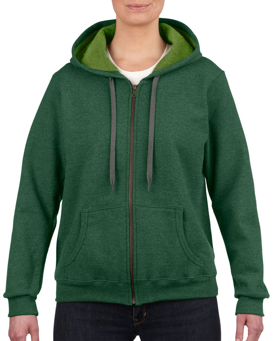 Gildan GD81 - Ladies Heavy Blend Zip Hoodie Wizard Printers