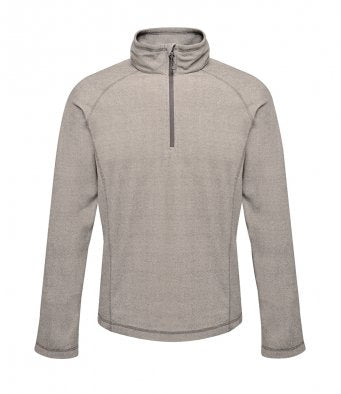 RG149 - Parkline Zip Neck Mini Stripe Micro Fleece