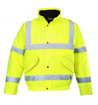 Hi Visibility Bomber Jacket - PW001 Wizard Printers
