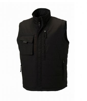 Black - Russell 014M - Gilet for Professional Businesses Wizard Printers  - Black