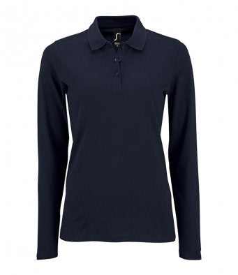 02083 - Sols Ladies Perfect Long Sleeve Piqué Polo Shirt
