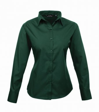 Premier Ladies Long Sleeve Poplin Shirt - PR300