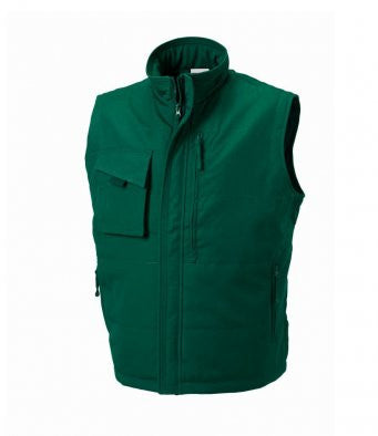 Bottle Green - Russell 014M - Gilet for Professional Businesses Wizard Printers