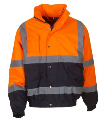 Yoko YK201- High Visibility Two Tone Bomber Jacket Wizard Printers