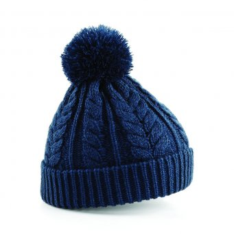 Cable Knit Snowstar Beanie - BB454 - Wizard Printers