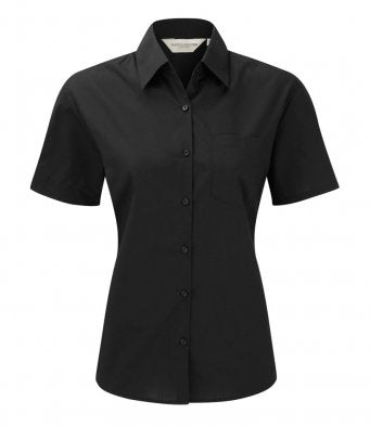 Russell 935F - Ladies Short Sleeve Poplin Shirt Wizard Printers