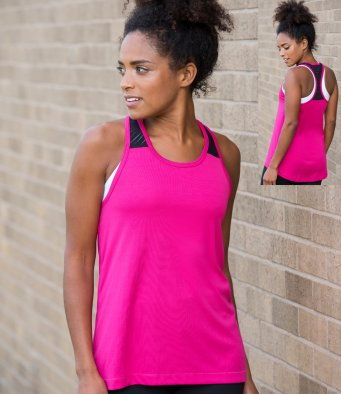 Awd Just Cool JC027 - Girlie Smooth Workout Vest Wizard Printers