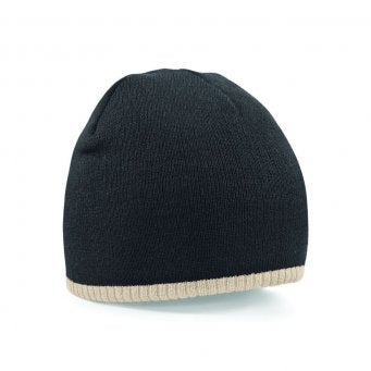 Two-Tone Pull-On Beanie - BB44C