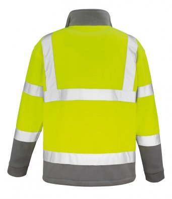 Result RS329 - Safe Guard High Visibility Micro Fleece Jacket Wizard Printers