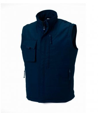 Navy - Russell 014M - Gilet for Professional Businesses Wizard Printers