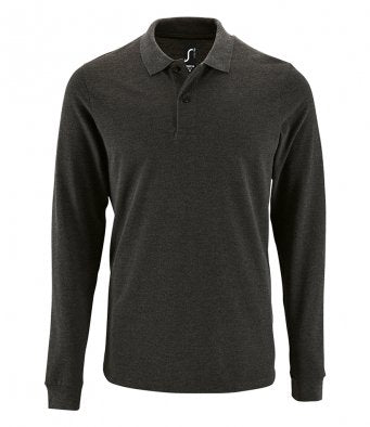 Sols Mens Perfect Long Sleeve Piqué Polo Shirt Wizard Printers