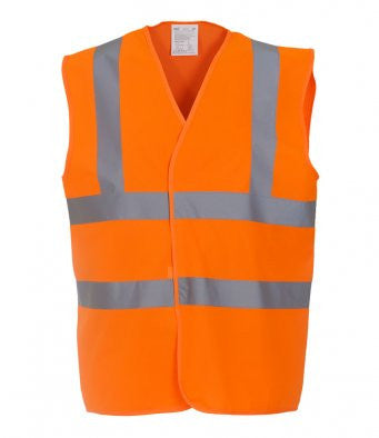 High Visibility Two Band & Braces Waistcoat - YK102  (HVP100) Wizard Printers