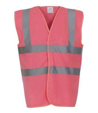 Yoko YK102 - High Visibility Two Band & Braces Waistcoat Wizard Printers