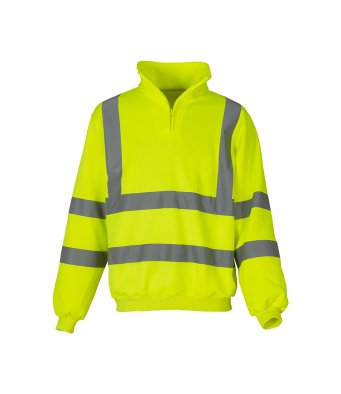 Yoko YK033 - High Visibility Zip Neck Sweatshirt Wizard Printers