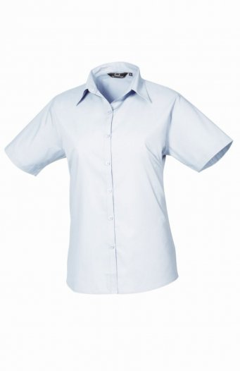 Premier Ladies Short Sleeve Poplin Blouse - PR302