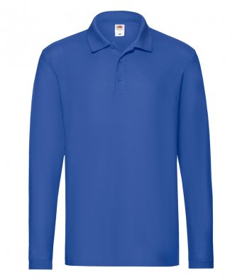 Fruit of the Loom SS24 - Premium Long Sleeve cotton Pique Polo Shirt Wizard Printers