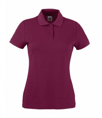 SS86 - Ladies Fit Pique Polo Shirt