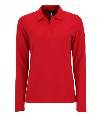 Sols 02083 - Sols Ladies Perfect Long Sleeve Piqué Polo Shirt Wizard Printers