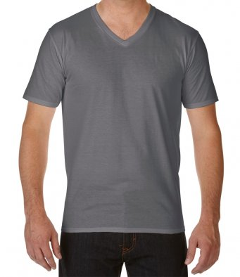 Gildan GD09 - Premium Cotton V Neck T-Shirt Wizard Printers