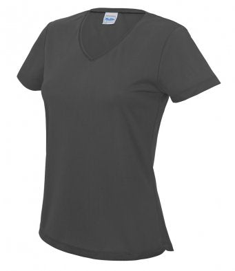 Just Cool Girlie V Neck Wicking T-Shirt - JC006 AWDis Wizard Printers