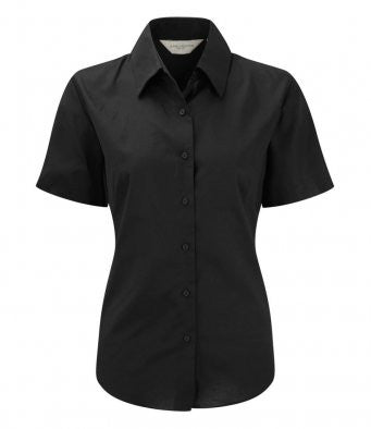 Ladies Short Sleeve Oxford Shirt - 933F
