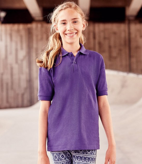 Jerzees Schoolgear 539B - Kids Poly Cotton Pique Polo Shirt Wizard Printers