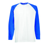 Contrast Long Sleeve Baseball T Shirt - SS32 Wizard Printers