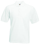 SS11 - Fruit of the Loom Poly Cotton Pique Polo Shirt | White