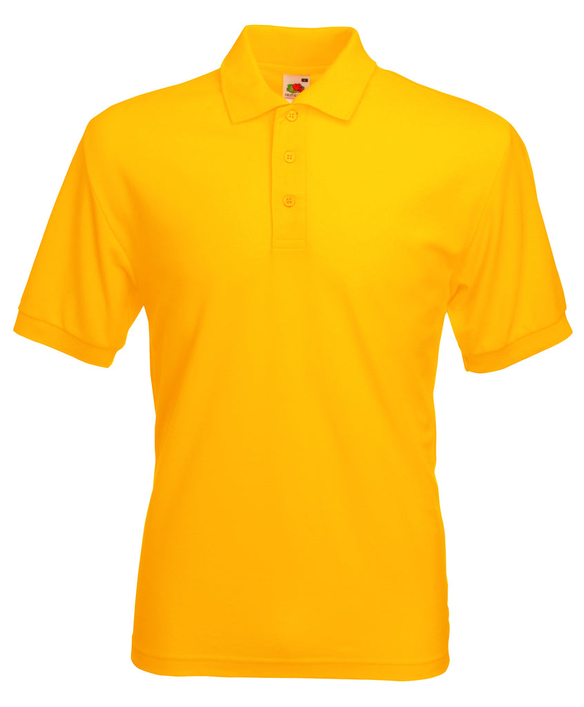 SS11 - Fruit of the Loom Poly Cotton Pique Polo Shirt | Yellow