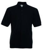 SS11 - Fruit of the Loom Poly Cotton Pique Polo Shirt | Black