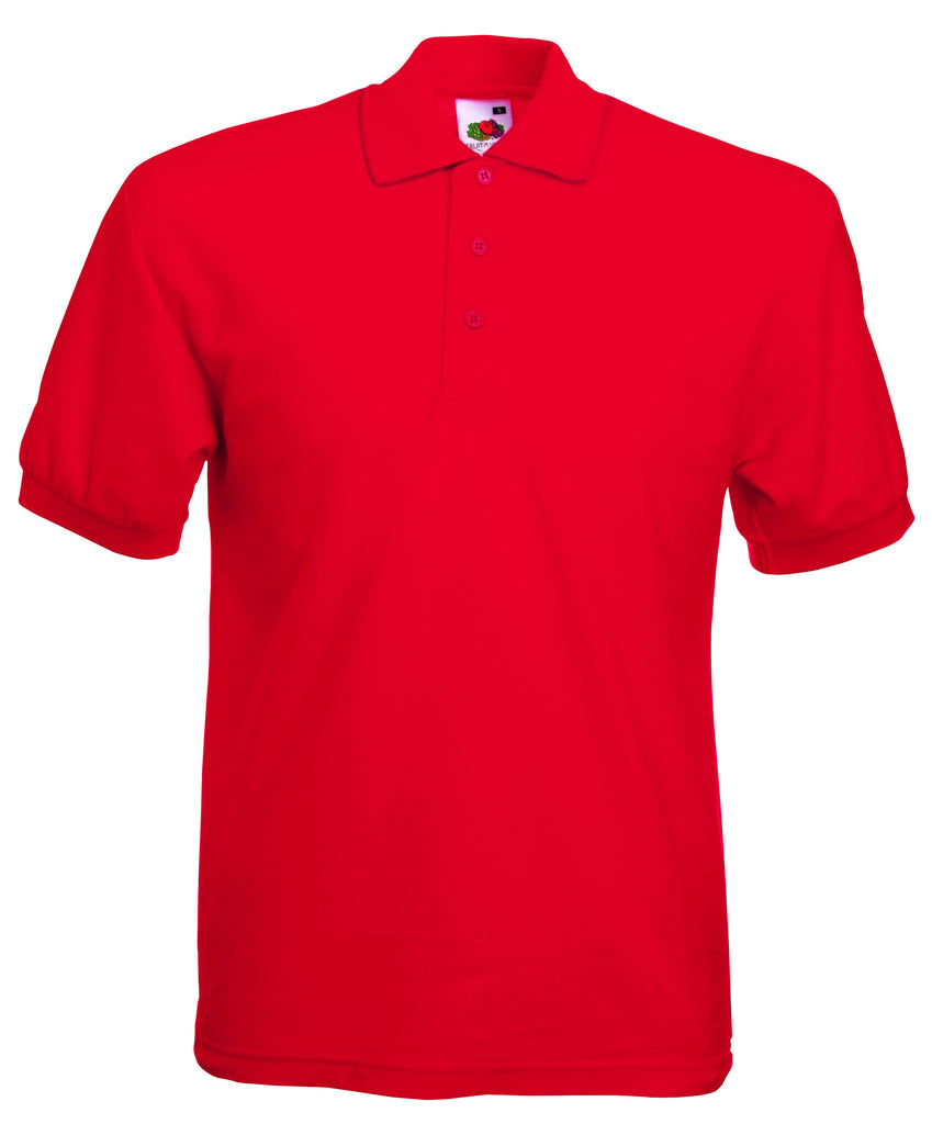 SS11 - Fruit of the Loom Poly Cotton Pique Polo Shirt | Red