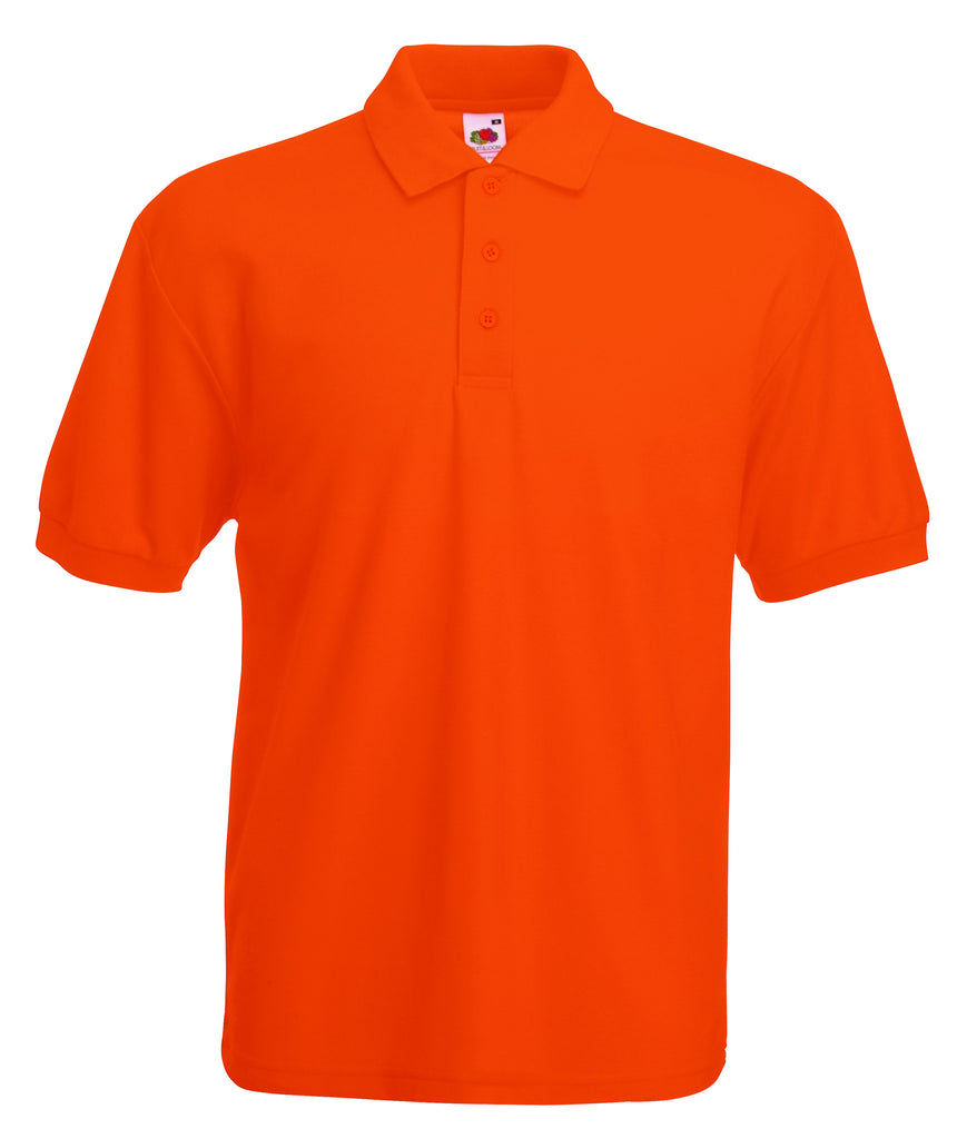 SS11 - Fruit of the Loom Poly Cotton Pique Polo Shirt | Orange