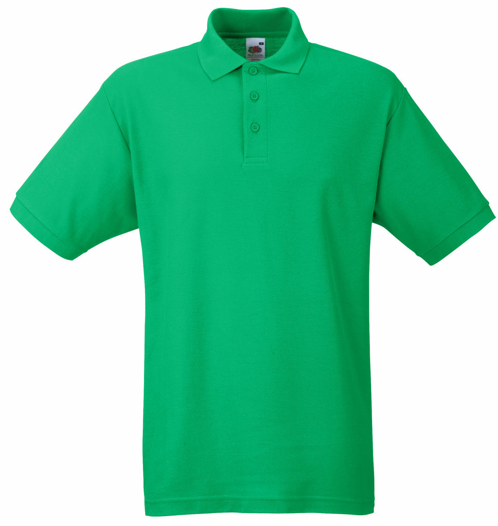 SS11 - Fruit of the Loom Poly Cotton Pique Polo Shirt | Emerald
