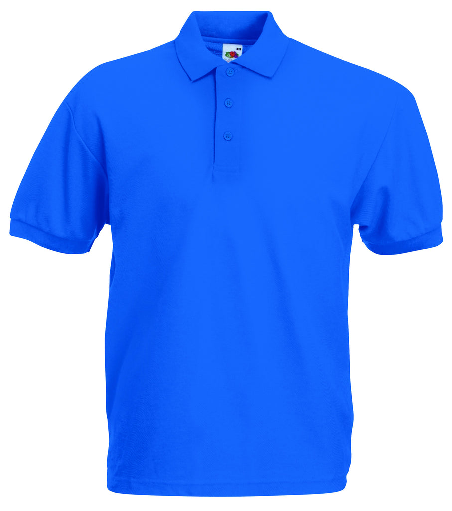 SS11 - Fruit of the Loom Poly Cotton Pique Polo Shirt | Royal