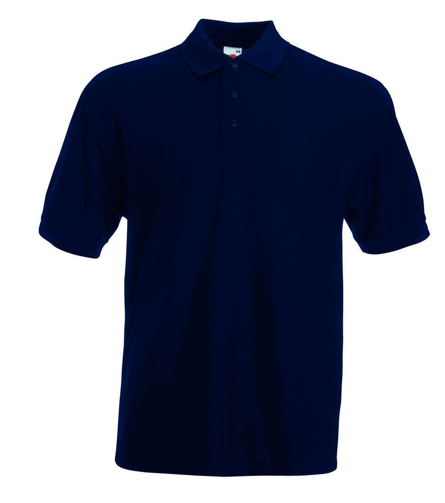 SS11 - Fruit of the Loom Poly Cotton Pique Polo Shirt | Deep Navy