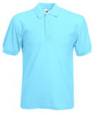 SS11 - Fruit of the Loom Poly Cotton Pique Polo Shirt | Sky