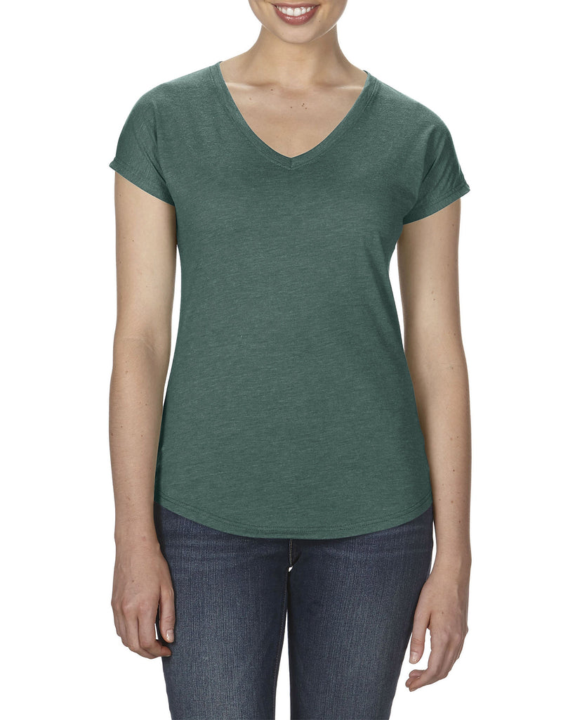 AV6750VL Anvil Womens Tri-Blend V-Neck T-Shirt - Wizard Printers - 10