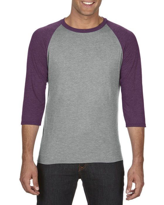 Anvil AV6755 - Tri-Blend Sleeve Raglan Wizard Printers