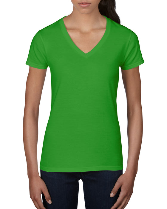Anvil AV88VL - Ladies V Neck Fashion T Shirt Wizard Printers