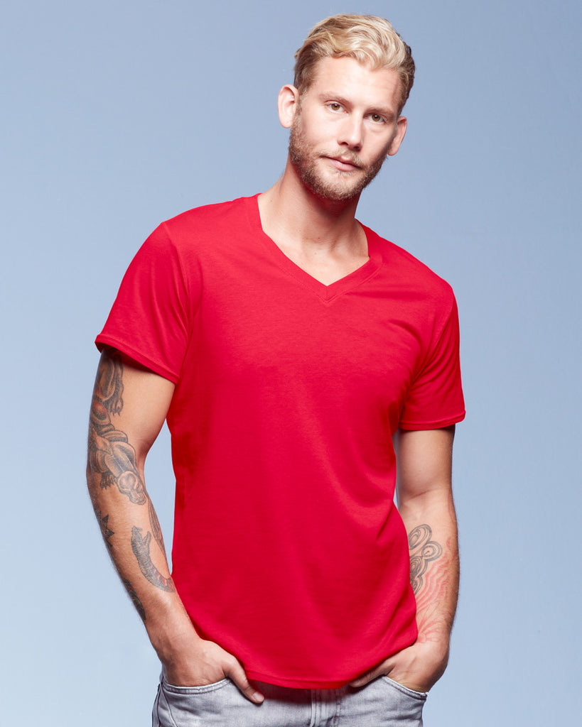 Adult Featherweight V-Neck T-Shirt - AV362 Wizard Printers