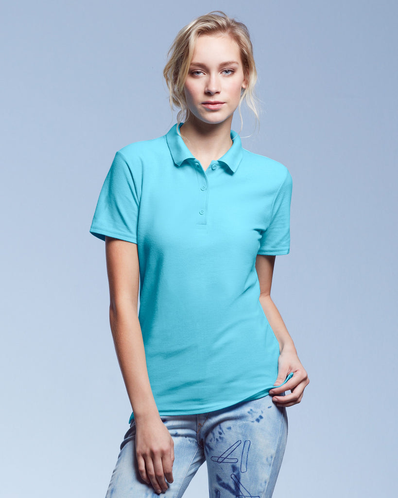 AV6280L - Anvil Ladies Double Pique Polo Shirt - Wizard Printers - 1