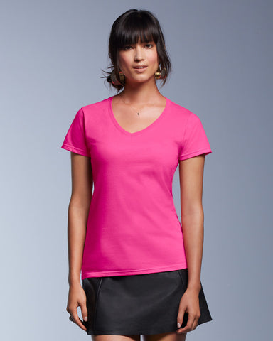 GD78 - SoftStyle Ladies V Neck T Shirt